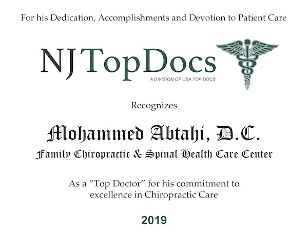 Winner Mohammed Abtahi 2019 Dr. Moe Abtahi is a gentle and experienced chiropractor.